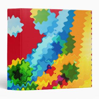 "Arte abstracto de las ondas coloridas retras carpeta 1 1/2"""