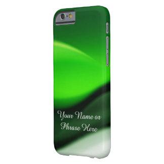 Arte abstracto de las ondas verdes funda para iPhone 6 barely there