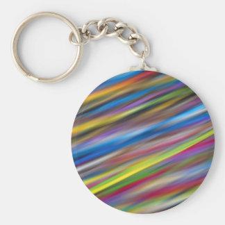 Arte abstracto de las rayas coloridas llavero redondo tipo pin
