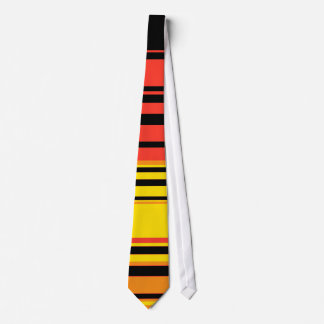 Arte abstracto de las rayas retras simples corbata personalizada