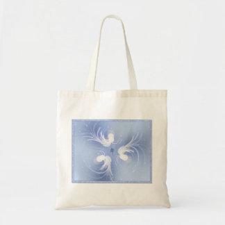 Arte abstracto de los ángeles de la nieve bolsa tela barata