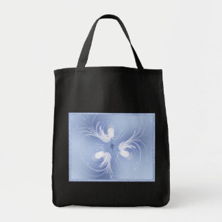 Arte abstracto de los ángeles de la nieve bolsa tela para la compra