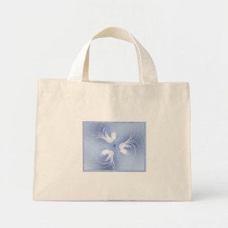 Arte abstracto de los ángeles de la nieve bolsa tela pequeña
