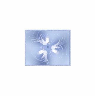 Arte abstracto de los ángeles de la nieve fotoescultura vertical