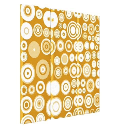 Arte abstracto de los años 50 blancos poner crema impresiones en lona estiradas