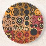 Arte abstracto de los años 50 coloridos retros posavasos diseño
