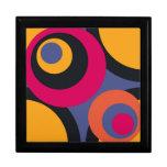 Arte abstracto de los años 50 retros cajas de regalo
