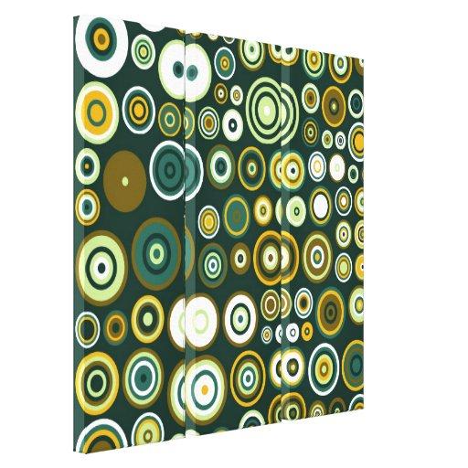 Arte abstracto de los años 50 verdes del vintage impresiones en lona