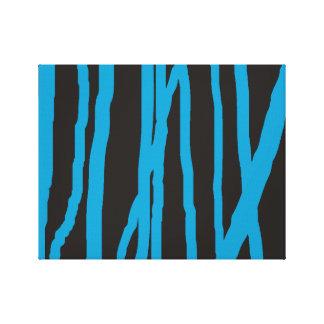 Arte abstracto de los árboles de abedul en azul impresion de lienzo