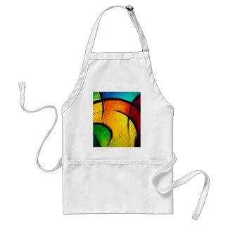 Arte abstracto de los colores brillantes enrrollad delantal