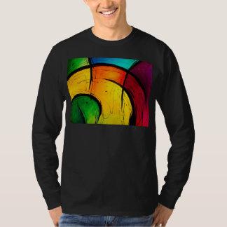 Arte abstracto de los colores brillantes enrrollad playeras