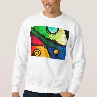 Arte abstracto de los colores brillantes enrrollad pulóvers sudaderas