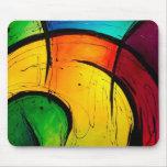 Arte abstracto de los colores brillantes enrrollad alfombrilla de raton