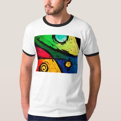 Arte abstracto de los colores brillantes playera
