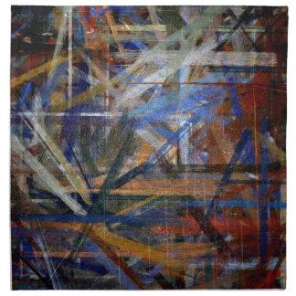 Arte abstracto de los colores multi que pinta 2 servilletas de papel