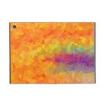 Arte abstracto de los colores multi que pinta 9 iPad mini coberturas