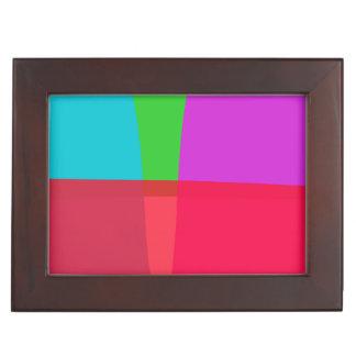 Arte abstracto de los colores simples cajas de recuerdos