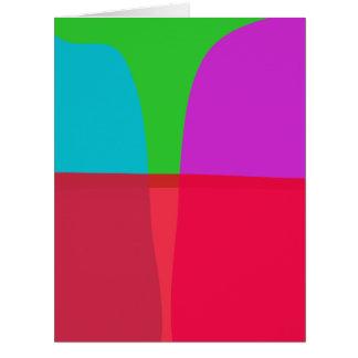 Arte abstracto de los colores simples