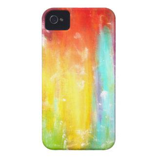 Arte abstracto de los colores verdaderos iPhone 4 fundas
