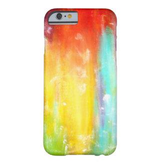 Arte abstracto de los colores verdaderos funda de iPhone 6 barely there