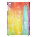 Arte abstracto de los colores verdaderos iPad mini cárcasa