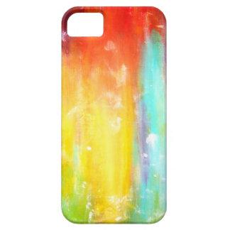 Arte abstracto de los colores verdaderos funda para iPhone 5 barely there