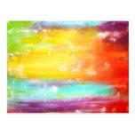 Arte abstracto de los colores verdaderos postal