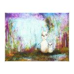 Arte abstracto de los conejos de la escuela, de la impresión de lienzo