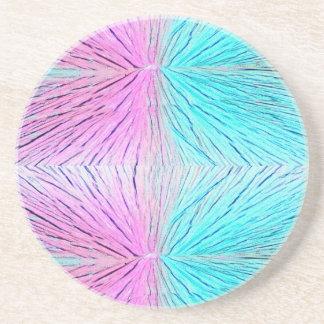 Arte abstracto de los cristales en rosas y azules posavasos manualidades