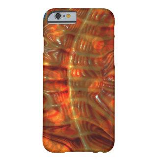 Arte abstracto de los modelos prehistóricos funda para iPhone 6 barely there