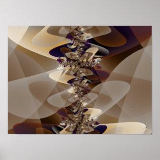 Arte abstracto de los muebles 2 poster