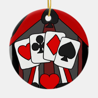 Arte abstracto de los naipes artísticos de la adorno navideño redondo de cerámica