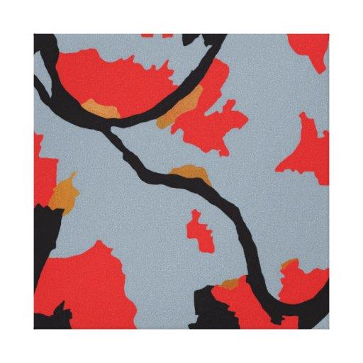Arte abstracto de los ríos de Pittsburgh tres Impresiones En Lona Estiradas