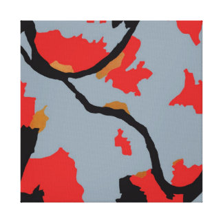 Arte abstracto de los ríos de Pittsburgh tres Lona Envuelta Para Galerias