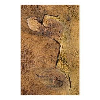 Arte abstracto de madera del cedro de la papelería