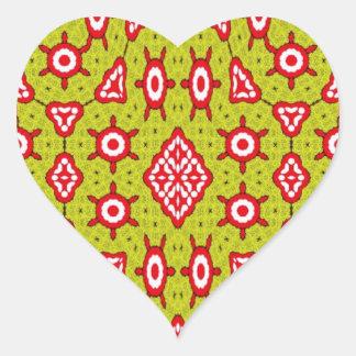 Arte abstracto de moda pegatina en forma de corazón