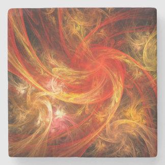 Arte abstracto de Nova de la tormenta de fuego Posavasos De Piedra