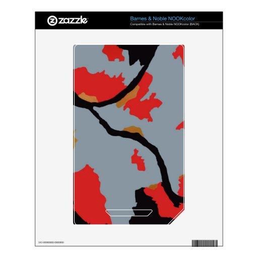 Arte abstracto de Pittsburgh NOOK Color Calcomanía