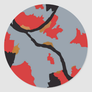 Arte abstracto de Pittsburgh Pegatinas Redondas