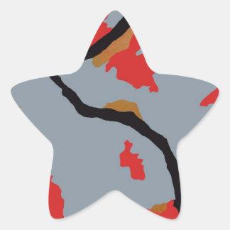 Arte abstracto de Pittsburgh Pegatina En Forma De Estrella