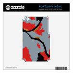 Arte abstracto de Pittsburgh iPod Touch 4G Calcomanías