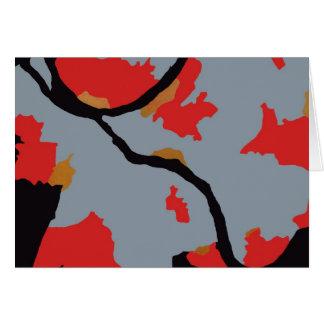 Arte abstracto de Pittsburgh Felicitacion