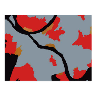 Arte abstracto de Pittsburgh Tarjeta Postal