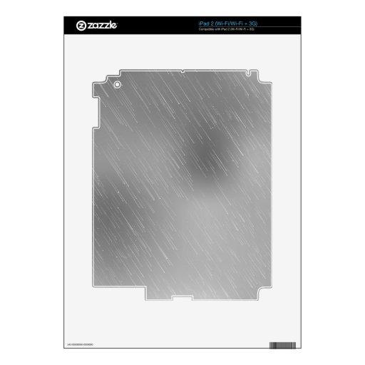 Arte abstracto de plata iPad 2 skin