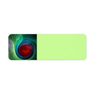 Arte abstracto de Red Storm Etiquetas De Remite