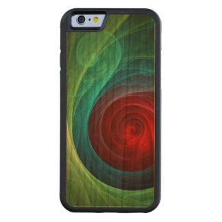 Arte abstracto de Red Storm Funda De iPhone 6 Bumper Cerezo