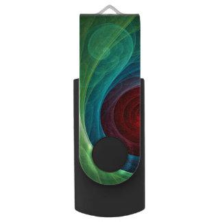 Arte abstracto de Red Storm Pen Drive Giratorio USB 2.0