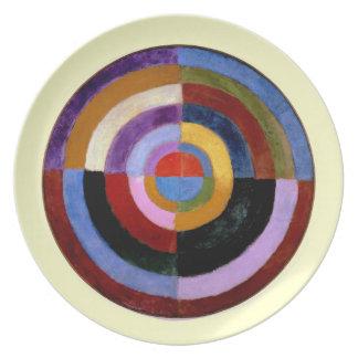 Arte abstracto de Roberto Delaunay Plato Para Fiesta