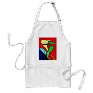 Arte abstracto de Sun del pájaro de mar Delantal