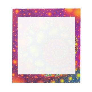Arte abstracto decorativo de neón espiral psicodél blocs de notas